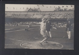 Schweden Olympia Olympic Games 1912 AK Penthatlon Discus - Olympische Spiele