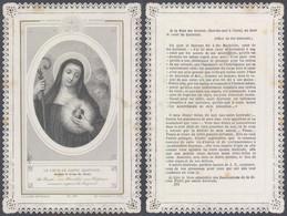 Image Pieuse En Dentelle : Le Coeur De St-Gertrude (Ch. Letaille, PI 381) - Faire-part