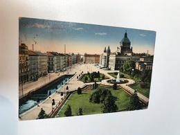 Germany Deutschland Leipzig Regionsgericht Fountain Garden Garten 0175 Post Card Postkarte POSTCARD - Leipzig