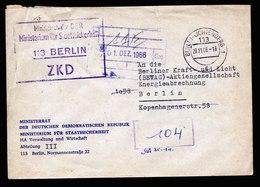 A6499) DDR ZKD Brief Ministerium Staatssicherheit 1966 Stasi Sehr Selten RRR !! - [6] Democratic Republic