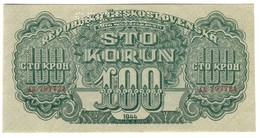 CZECHOSLOVAKIA100KORUN1944P48UNCSPECIMEN.CV. - Cecoslovacchia