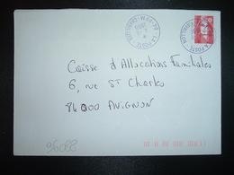 LETTRE TP M. DE BRIAT TVP ROUGE OBL. VIOLETTE 4-11 1996 LA POSTE 84 PFM CAVAILLON (PLATE FORME MESSAGERIE) - Marcophilie (Lettres)
