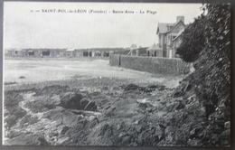 CPA 29 SAINT POL DE LEON - Sainte Anne - La Plage  - Réf. G 115 - Saint-Pol-de-Léon