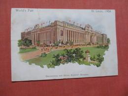 Worlds Fair St Louis 1904 Education & Social Economy Building  Card Was Trimmed   Ref  3853 - Ausstellungen