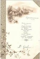 Menu En 1904 , Illustration Paysage - Menú