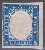 REGNO 1863 - 15c VARIETA' DOPPIA EFFIGE VITTORIO EMANUELE II - W28 - Nuevos