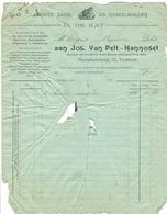 Factuur 191? Jos Van Pelt - Hannoset Turnhout In De Kat Herenthalsstraat 12 - 1900 – 1949