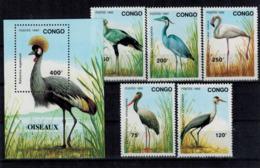 MBP 07102019_0006 MINT ¤ CONGO 1992-1992 KOMPL. SETS ¤ BIRDS OF THE WORLD - Aves Gruiformes (Grullas)