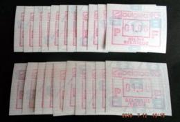 "Automatenmarken: Belgien - 10 X BELGICA 90 ""KOPFSTEHENDE ATM"": F+N. - Postage Labels"