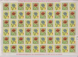PLANCHE DE VIGNETTES CONTRE LA TUBERCULOSE 1969 - Red Cross