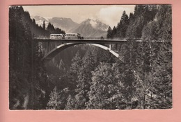 OLD POSTCARD - SWITZERLAND - SCHWEIZ - SUISSE -   POSTAUTO - BUS - FRUTIGEN - ADELBODEN - - BE Berne