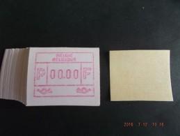 ATM.Jac Papier Crème. Nul-testdruk. NF. 100x. - Automatenmarken (ATM)
