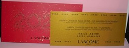 CHINOIS 2020 LANCOME ENVELOPPE + CARD - Cartes Parfumées