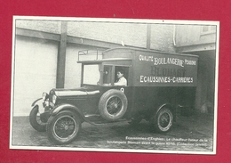 C.P. Ecaussinnes-d'Enghien = Le Chauffeur-livreur De La Boulangerie BLOMART Avant La Guerre 1940-1945 - Ecaussinnes