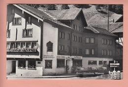 OLD POSTCARD - SWITZERLAND - SCHWEIZ - SUISSE -    WASSEN - HOTEL HIRSCHEN - UR Uri