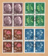PRO/J. SERIE BLOCS DE 4 OBLITERES 1/J.1.12.1948. C/.S.B.K. Nr:J125/J128. Y&TELLIER Nr:467/470. MICHEL Nr514/517. - Pro Juventute
