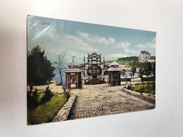 Croatia Hrvatska Cigale Lussinpiccolo Losinj Seebad Cafe Gulf Hotel 0193 Post Card Postkarte POSTCARD - Croazia