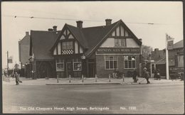 The Old Chequers Hotel, High Street, Barkingside, Essex, 1959 - RP Postcard - England