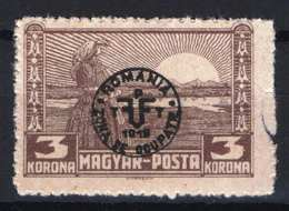 Hungary - DEBRECEN 1919. (Romania Occupation) Occupation Stamp 3 Korona Stamp MNH (**) Right Side Crop - Emissions Locales