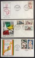 AFS13 Sénégal Jeux Olympiques Tokyo Industries Coopération FDC Premier Jour 1964 Lot 3 Lettre - Sénégal (1960-...)