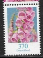 GERMANY, 2019,  MNH,FLORA, FLOWERS, FLOWER DEFINITIVE, 1v - Plants