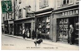 Saône Et Loire MARCIGNY Grand'rue (2)  (Horlogerie Voisin) - Autres Communes