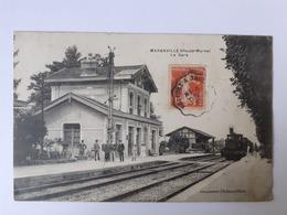Maranville (52) La Gare - Convoyeur Belfort A Troyes - France