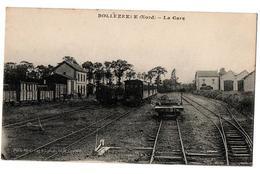 BOLLEZEELE LA GARE TRAINS  TRES ANIMEE - France