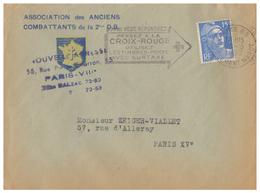 1952 - Lettre à Entête - Paris (8ème) - Ass Anciens Combattants De La 2ème DB Au 55 Rue Pierre Charon - FRANCO DE PORT - Francia