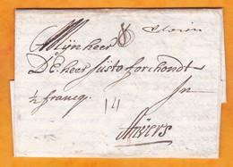 1709 - LAC En Néerlandais De WEENEN, Afrique Du Sud Vers Anvers, Antwerpen, Belgique: Peu Après 1e Révolte Des BOERS - 1621-1713 (Spanische Niederlande)