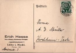! 2 Belege 1934 Aus Lübz In Mecklenburg - Briefe U. Dokumente