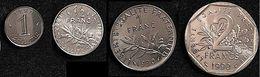 LOT Spécial Année 1990  : 1 CENTIME 1/2 1 2  FRANCS - I. 2 Francs