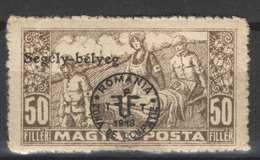 Hungary - DEBRECEN 1919. (Romania Occupation) Occupation Stamp 50 Filler AID Stamp MH (*) - Emissions Locales