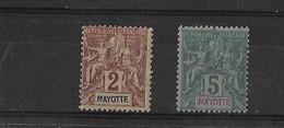 Mayotte N° 2 Et 4** - Unused Stamps