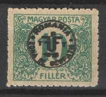 Hungary - DEBRECEN 1919. (Romania Occupation) Occupation Stamp 10 Filler Postage Due, Porto MNH (**) - Emissioni Locali