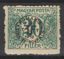 Hungary - DEBRECEN 1919. (Romania Occupation) Occupation Stamp 20 Filler Postage Due, Porto MNH (**) - Emissioni Locali