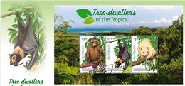 Australia 2020 FDC Tree-dwellers Of The Tropics Tree-kangaroo Flying Fox Ringtail Possum - Francobolli