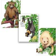 Australia 2020 Set 3 MC Maximum Card Tree-dwellers Of The Tropics Tree-kangaroo Flying Fox Ringtail Possum - Francobolli