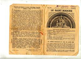 2 Journal Le Saint Rosaire Mars Avril 1938 - Journaux - Quotidiens