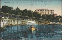 See Und Sandbad, Hotel Lovrana, Lovrana, 1918 - AK - Croatia