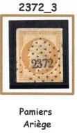 Franc : Petit Chiffre N° 2372 : Pamiers (  Ariège ) Indice 3 - 1849-1876: Klassik