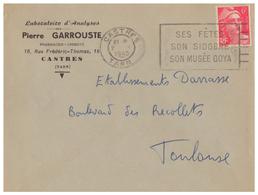 1948 - Lettre à Entête - Castres (Tarn) - Laboratoire Garrouste Au 16 Rue Frédéric Thomas - FRANCO DE PORT - Francia