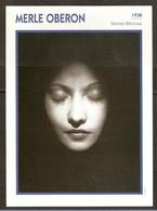 PORTRAIT DE STAR 1938 GRANDE BRETAGNE - ACTRICE MERLE OBERON - ENGLAND ACTRESS CINEMA FILM PHOTO - Fotos