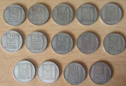 Achat Immédiat - France - Lot De 14 Monnaies 10 Francs Turin En Argent - 1929 à 1934 - K. 10 Francs