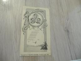 Encart Illustré Arts Nouveaux Souvenir De Valence Aviation 13/4/1 Août 1911 - Historische Documenten