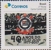 BRAZIL, 2019, MNH ,SOCCER, FOOTBALL, FAMOUS CLUBS, CORINTHIANS,1v - Famous Clubs