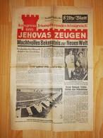 RARE Journal 8 Uhr-blatt 13 Août 1955 JEHOVAS ZEUGEN KONGRESS TRIUMPHIERENDES JÉHOVAH 'S WITNESSES WATCHTOWER - Documents Historiques