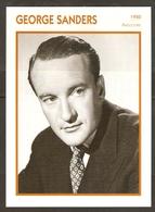 PORTRAIT DE STAR 1950 GRANDE BRETAGNE - ACTEUR GEORGES SANDERS - ENGLAND ACTOR CINEMA FILM PHOTO - Fotos