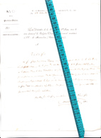 82 - MONTAUBAN - FRANC-MACONNERIE - Courrier 1854 Adr à GISORS Par LOGE De La PARFAITE UNION - RARE OBLIT LIGNE De CALAI - 1849-1876: Période Classique