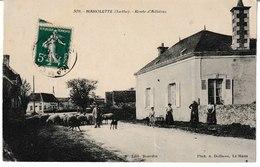 Sarthe MAROLETTE  Route D'Aillieres (animation, Troupeau De Moutons) - France